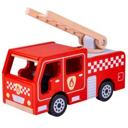 Bigjigs Toys Drevené hasičské auto