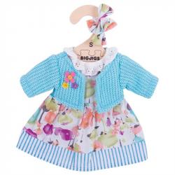 Bigjigs Toys tyrkysové šaty so svetrom pre bábiku 25 cm