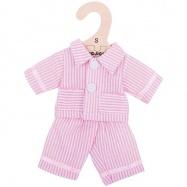 Bigjigs Toys růžové pyžamo pro panenku 25 cm