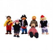 Bigjigs Toys panenky - Set piráti 6ks