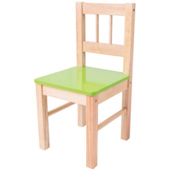 Bigjigs dřevěná židlička zelená