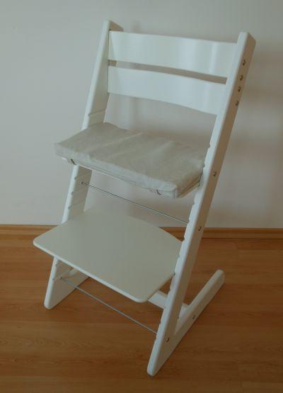 Dětská rostoucí židle JITRO KLASIK bílá