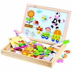 Magnetická tabulka Farma s puzzlemi