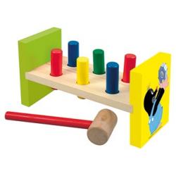 Dřevěné hračky - Zatloukačka - Krtek