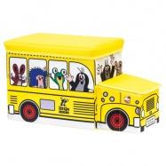 BINO Krecik pudełko na zabawki – autobus