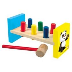 Bino Drevená zatĺkačka Krtek a Panda