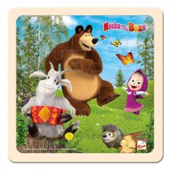 Bino Máša a Medvěd - Puzzle 20x20cm