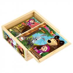 Bino Máša a Medveď - kocky 9 ks