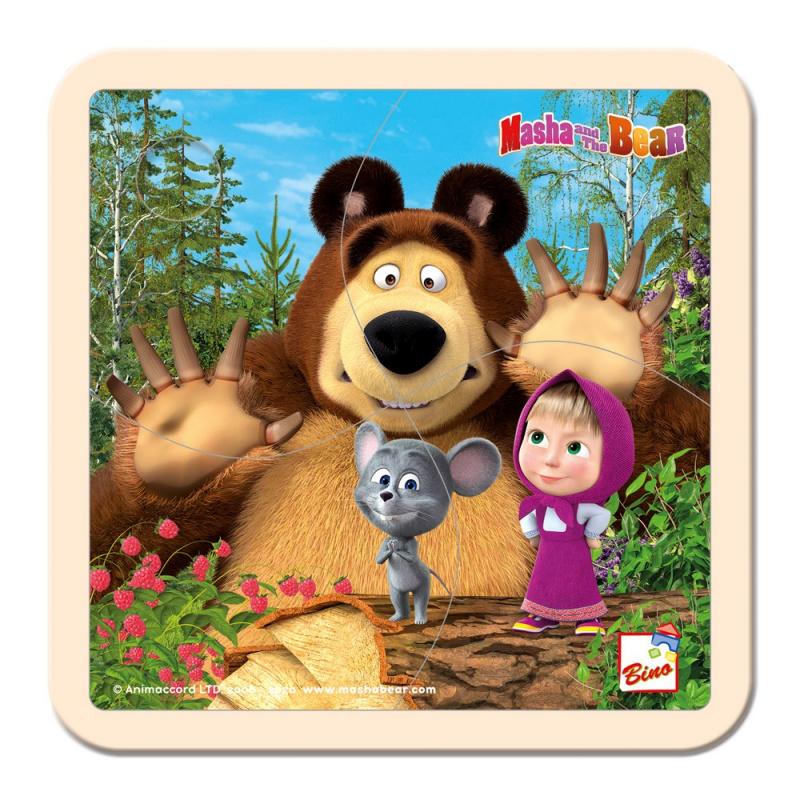 Bino Máša a Medveď - Puzzle s myškou15x15cm