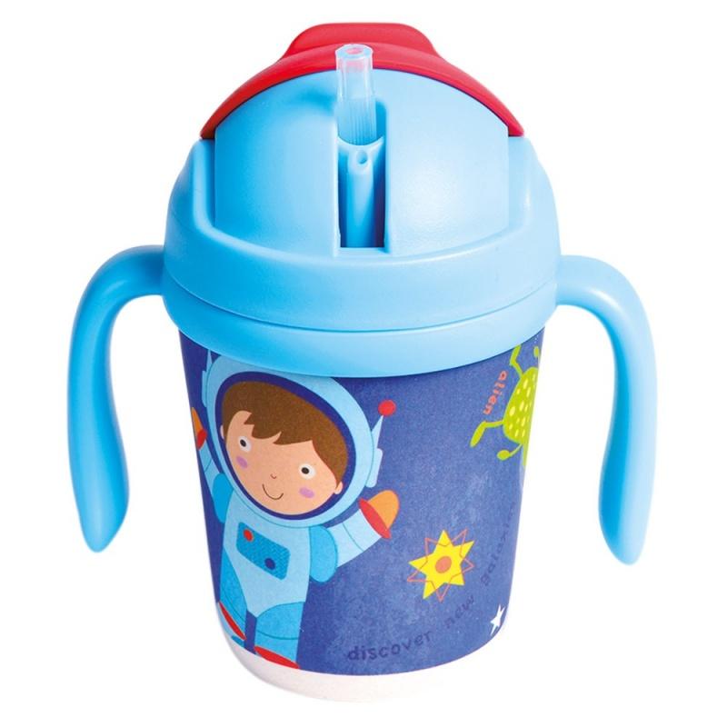 Bino Hrnček so slamkou 250 ml Astronaut