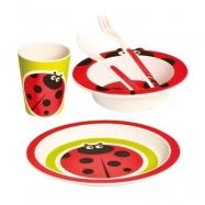 BINO Bambusowe naczynia dla dzieci, 5 elementów, Biedronka