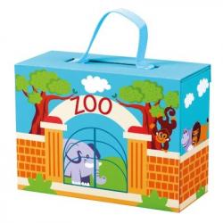 Bino Cestovný kufrík so zvieratky ZOO