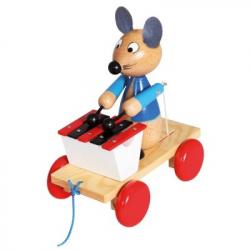 Bino Ťahací myš s xylofónom