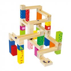 Drewniane zabawki - Kulodrom, 66 elementów