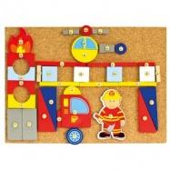 BINO Zabawka z młoteczkiem strażacy 168 elementów