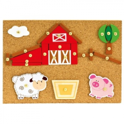 BINO Zabawka z młoteczkiem farma 170 elementów