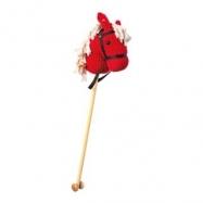 Bino Koňská hlava na tyči červená manšestr