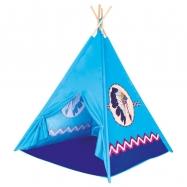 BINO namiot dziecięcy TeePee - kolor niebieski, 4 ściany