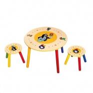 Stolik dla dzieci i 2 stołeczki, Krecik