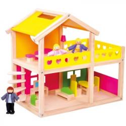 Bino Drevený domček pre bábiky