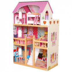 Bino - Domeček s nábytkem 17ks