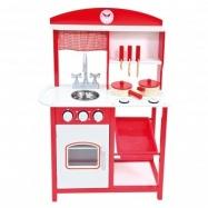 Dětská kuchyňka s příslušenstvím červená