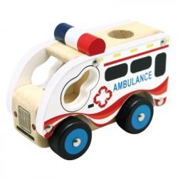 Bino - Dřevěné auto ambrulance