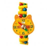 Bino Drevené hodinky Kočka