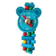 Bino Drevené hodinky Myš