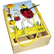 Dřevěné hračky-motorické hry- Ferda Mravenec - vyšívání