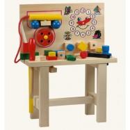 Drevené hračky - Hračky pre chlapcov -Pracovný stôl s telefónom