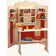 Dřevěné hračky - Kombinovaná dětská prodejna / divadlo