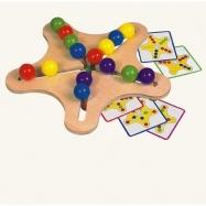 Dřevěné hračky - Dřevěný motorický hlavolam - hvězda