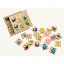 Dřevěné hračky - dřevěné hry - Pexeso - zvířátka