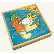 Dřevěné hračky - Obrázkové kostky - Zvířátka,25 ks