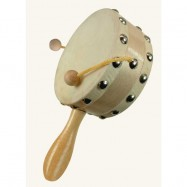 Dřevěné hračky - hudební nástroje - Buben s rukojetí
