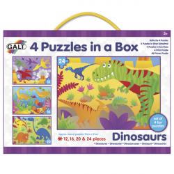 4 Puzzle v krabici - Dinosauři