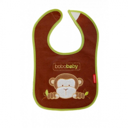Trojvrstvový bavlnený podbradník Opička - hnedý