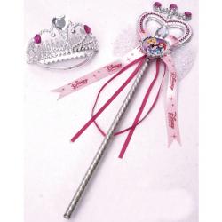 Księżniczki Disneya - Opaska na głowę i różdżka dla księżniczki