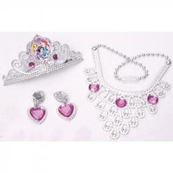 Księżniczki Disneya - Zestaw z koroną i biżuterią dla księżniczki