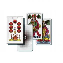 Mariáš jednohlavý spoločenská hra karty v papierovej krabičke 7x10cm