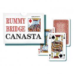 Canasta spoločenská hra - karty 108ks v papierovej krabičke