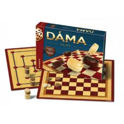 Dáma + mlyn spoločenská hra v krabici 33x23x4cm