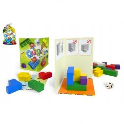 Qubolo spoločenská hra s drevenými kockami v látkovom vrecúšku STRAGOO