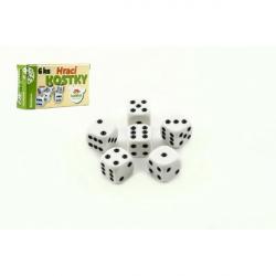 Hracie kocky 13x13mm spoločenská hra 6ks v krabičke 9x5x2cm