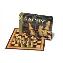 Šachy drevené spoločenské hry v krabici 33x23x3cm
