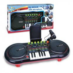 Mixážní pult DJ s mikrofonem