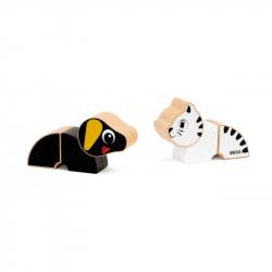Magnetická zvířátka kočka a pes