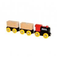Klasyczny drewniany pociąg