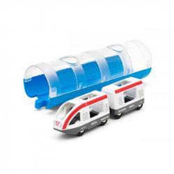 Pociąg pasażerski z tunelem